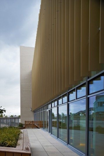 Projects Health Athletes Village Exterior Louvres Penoyre and Prasad