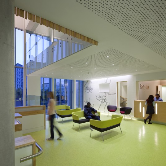 Projects Health Athletes Village patients waiting area Penoyre and Prasad