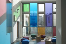 Projects Health Heart of Hounslow Waiting Area Coloured Glazing Penoyre and Prasad