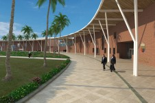 Projects Schools International Kings College Dubai Entrance Walkway Penoyre and Prasad