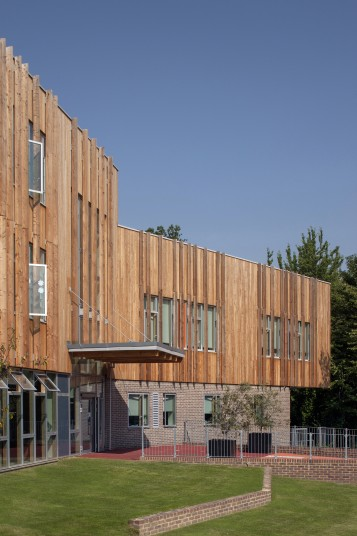 Projects Schools Primary Ashmount School Crouch Hill Community Park timber detail Penoyre and Prasad
