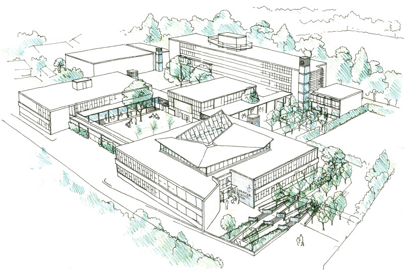 Projects Schools Secondary Charter School Sketch Penoyre and Prasad