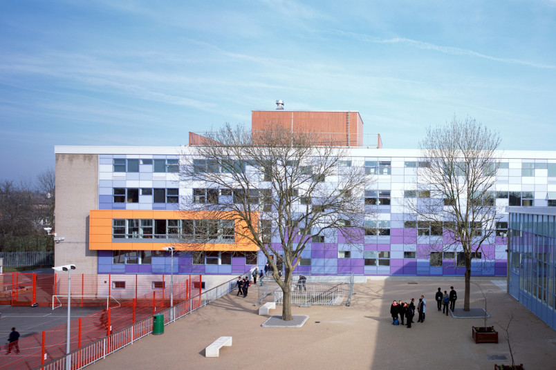Projects Schools Secondary Charter School external play Penoyre and Prasad