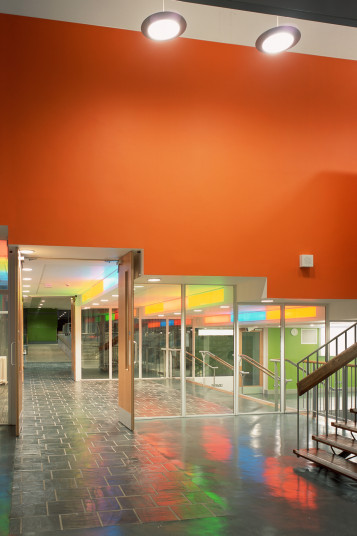 Projects Schools Secondary Charter School view through to hall Penoyre and Prasad