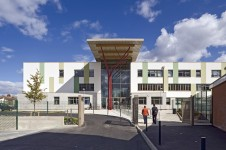 Projects Schools Secondary Frederick Bremer School Entrance Elevation Penoyre and Prasad