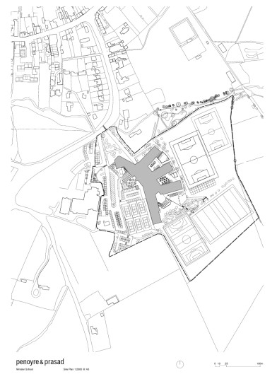 Projects Schools Secondary Minster School site plan Penoyre and Prasad