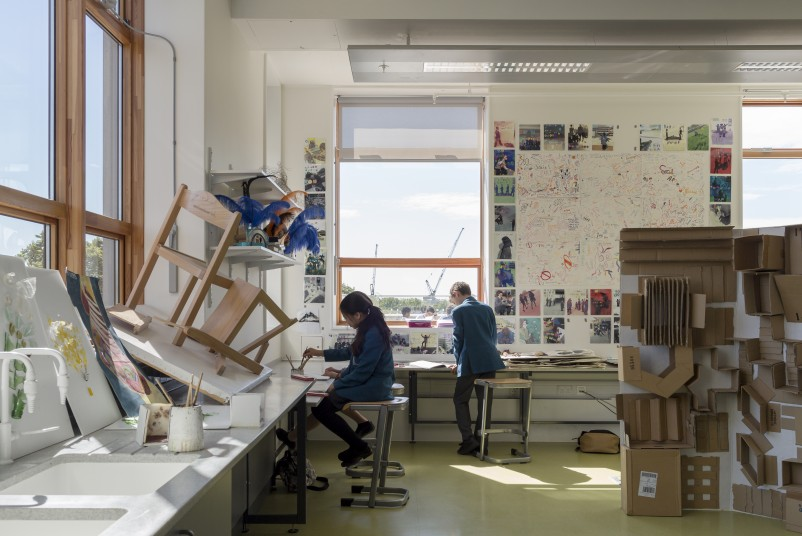 Projects Schools UCL Academy art studio Penoyre and Prasad