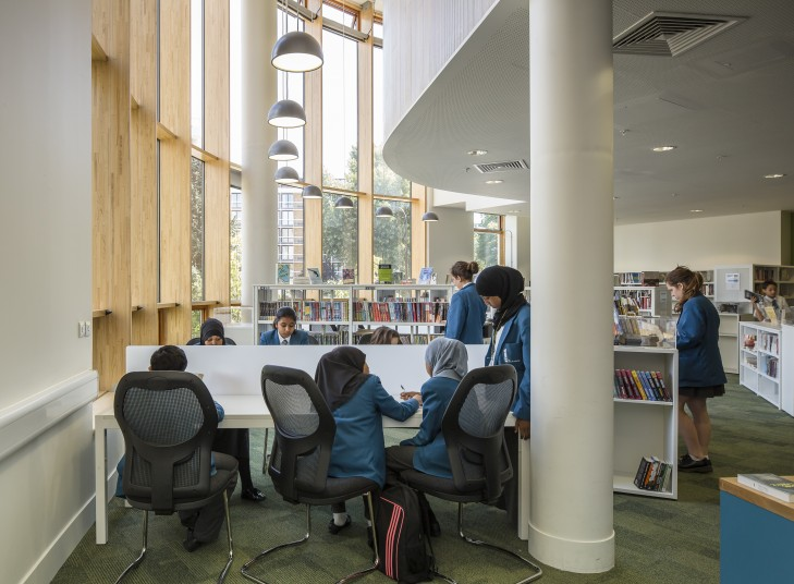 Projects Schools UCL Academy library Penoyre and Prasad