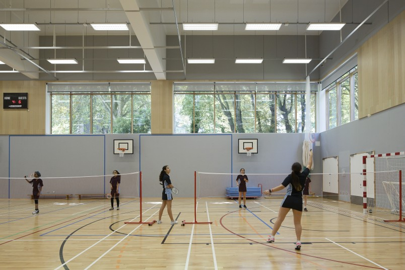 Projects Schools UCL Academy naturally lit sports hall Penoyre and Prasad