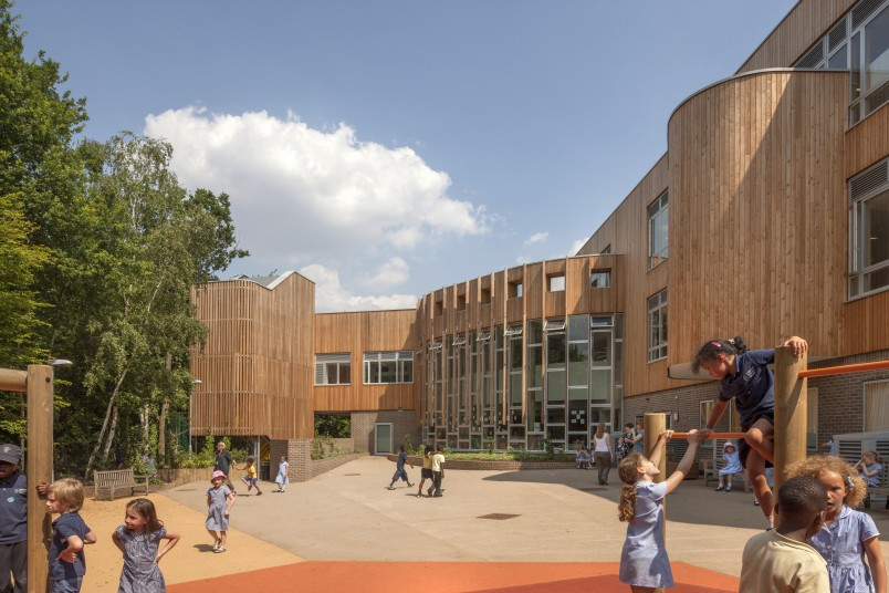 Sustainability Crouch Hill outdoor play Penoyre and Prasad Architects