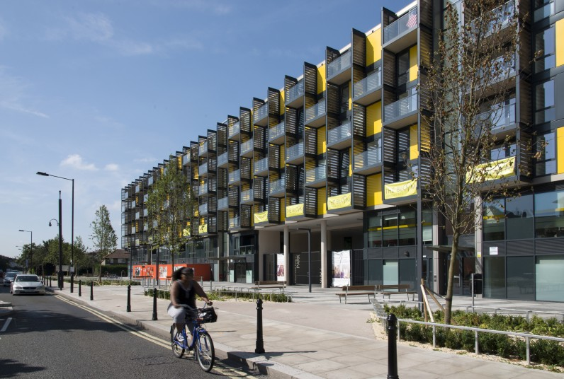 The Bloom White City residential elevation Penoyre & Prasad, London Architects