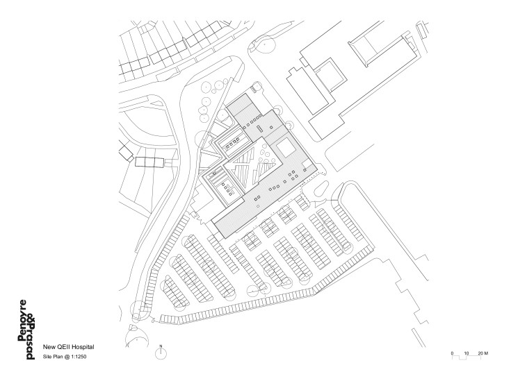 Projects Health QEII Hospital site plan Penoyre and Prasad
