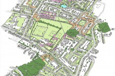 Projects Masterplanning Preston Area Masterplan plan drawing Penoyre and Prasad