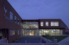 Projects Schools Secondary Belfairs High School Exterior dusk Penoyre and Prasad