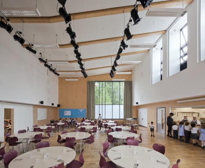 Ark Brunel Primary Academy multi-use dining area Penoyre and Prasad