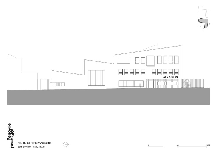 Projects Schools Ark Brunel Primary Academy east elevation Penoyre and Prasad