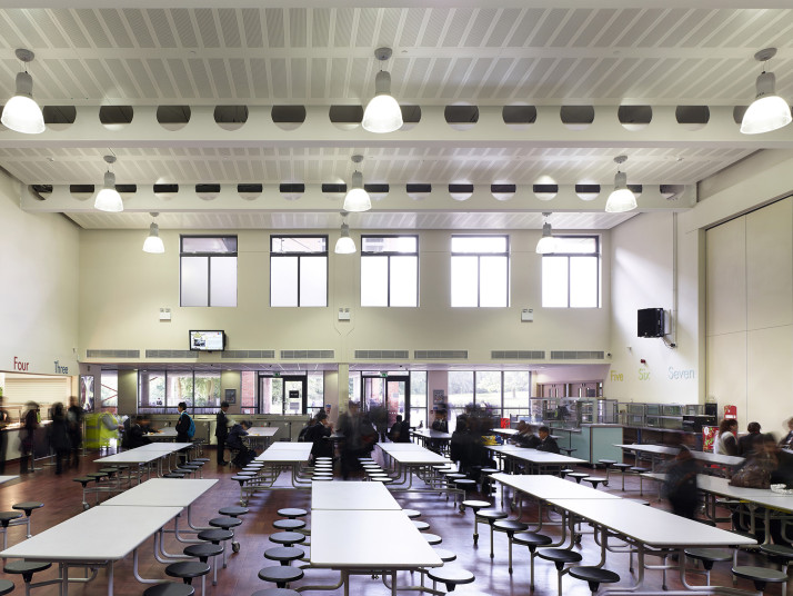 Projects Schools Moseley Double-height dining hall Penoyre and Prasad