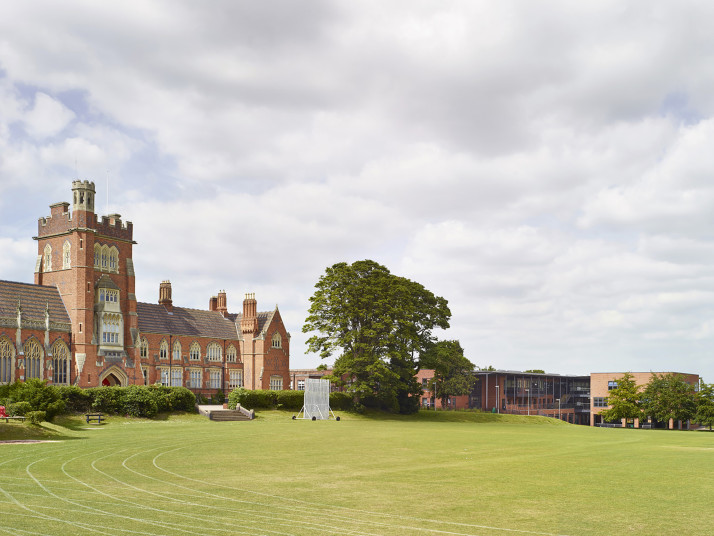 Projects Schools Moseley View of old and new buildings from playing fields Penoyre and Prasad