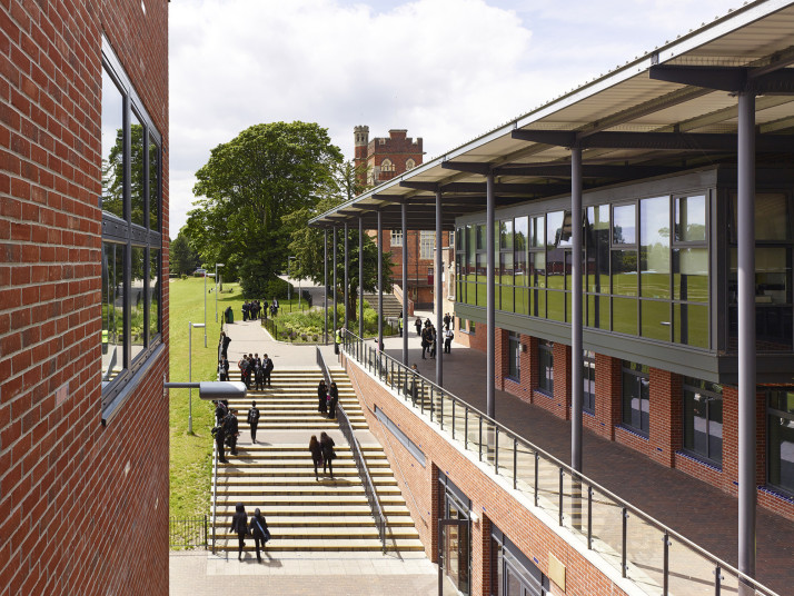 Projects Schools Moseley View towards 1850s Grade II Listed school Penoyre and Prasad