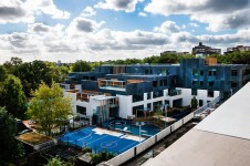 Projects Schools Swiss Cottage SEN School exterior roof view Penoyre and Prasad