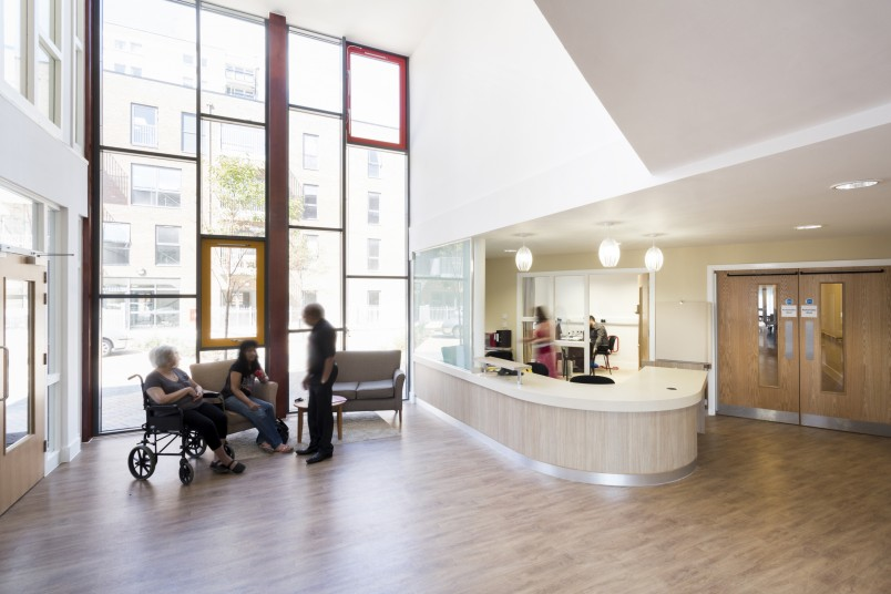 Dreywood Gardens Elderly Care reception Penoyre & Prasad, London Architects