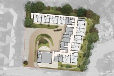 Projects Health Flaxen Road Extra Care Aerial View Penoyre and Prasad