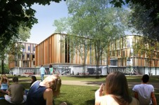 Projects-Higher-Education-Kent-Business-School-main-entrance-view-Penoyre-and-Prasad
