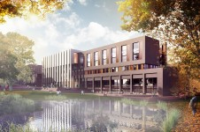 Projects-Higher-Education-University-of-Roehampton-Library-view-from-Digby-Stuart-Parkland-Penoyre-and-Prasad