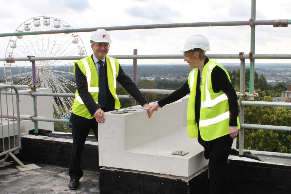 The University of Kent Templeman Library extension tops out