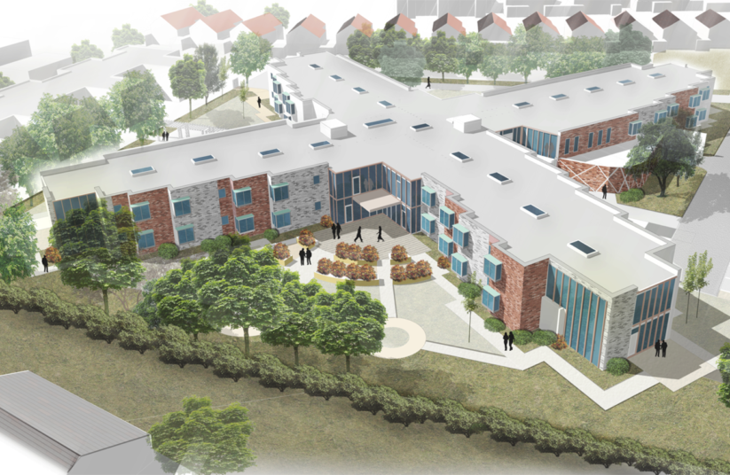 Projects Elderly Care Bristol Dementia Care Aerial view Penoyre and Prasad