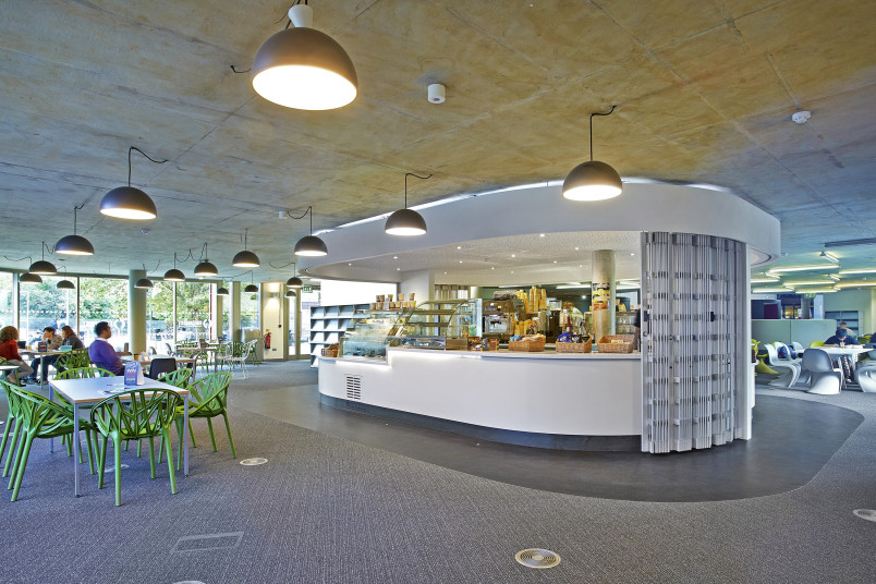 Projects Higher Education UoP Library Remodel cafe Penoyre and Prasad