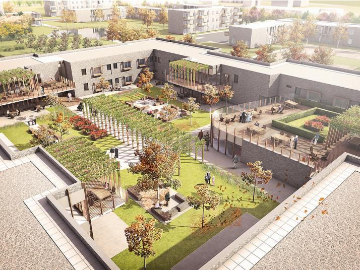 Projects Elderly Care South Tyneside Courtyard Garden Penoyre Prasad