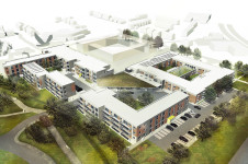 Projects Elderly Care Oak Park aerial view Penoyre and Prasad