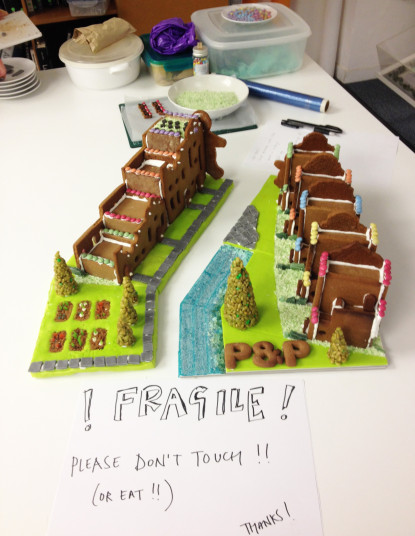 News Gingerbread City progress Penoyre Prasad