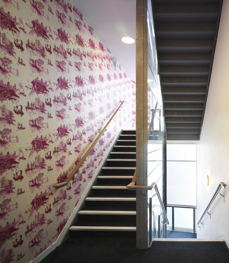 Projects Cultural The Rich Mix 3D wallpaper Penoyre and Prasad