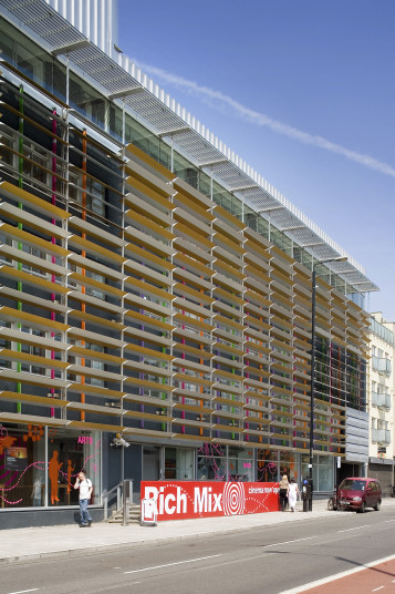 Projects Cultural The Rich Mix Exterior Facade Penoyre and Prasad