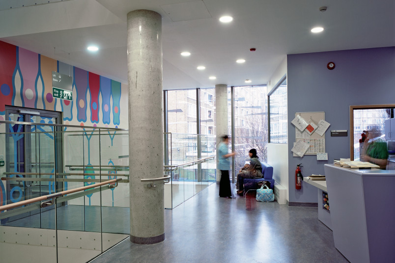 Projects Health Children's Eye Centre Moorfields Eye Hospital first floor waiting area Penoyre and Prasad