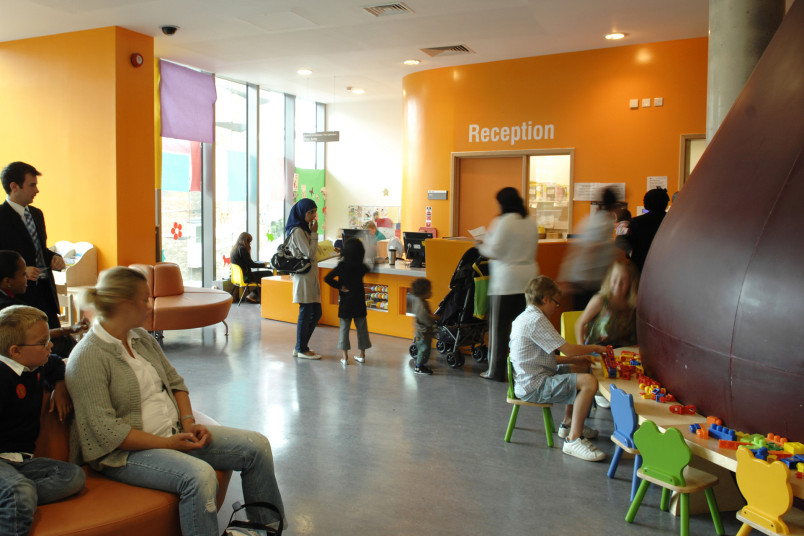 Projects Health Children's Eye Centre Moorfields Eye Hospital reception Penoyre and Prasad