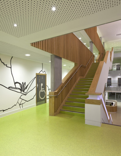 Projects Health Sir Ludwig Guttmann Health and Wellbeing Centre central stair Penoyre and Prasad