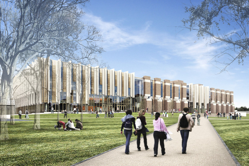 Projects Higher Education University of Kent Templeman Library West Elevation Penoyre and Prasad