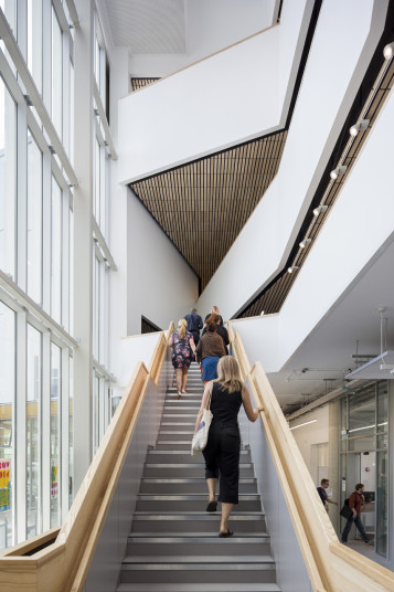 Projects Higher Education University of Portsmouth Eldon Building Atrium stair Penoyre and Prasad