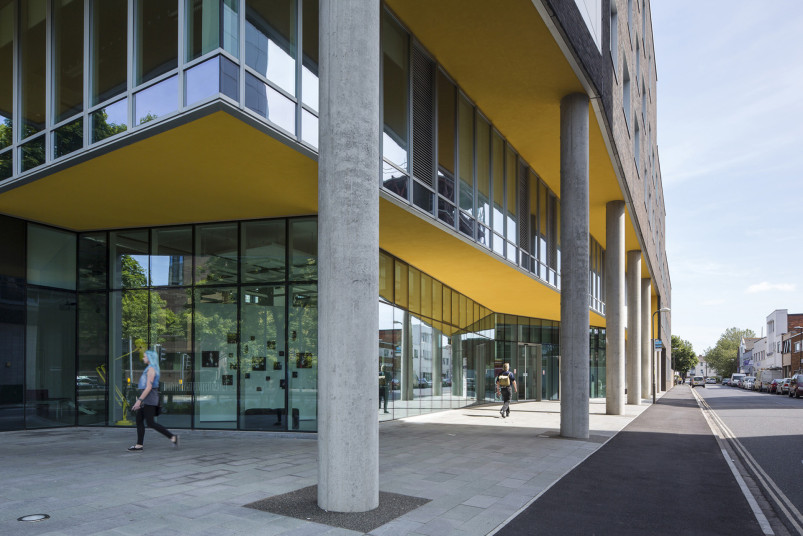 Projects Higher Education University of Portsmouth Eldon Building main entrance Penoyre and Prasad