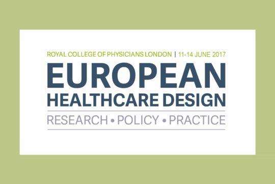 Mark Rowe at the European Healthcare Design conference