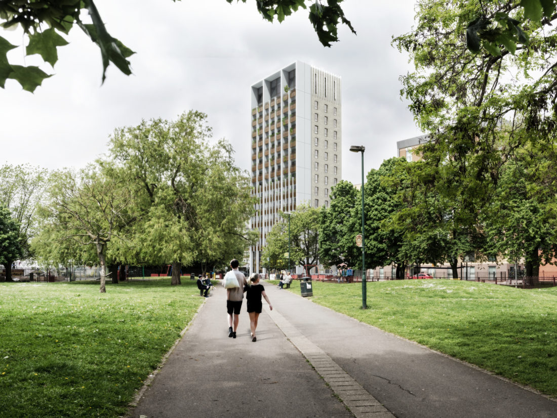 The Peel View from Kilburn Park Masterplanning Penoyre & Prasad