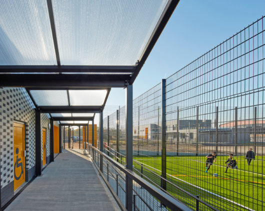The Pavilion - Bobby Moore Academy_changing room entrances_Penoyre & Prasad